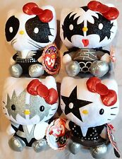 HELLO KITTY KISS Set of 4: Demon - Starchild - Catman - Spaceman  TY beanie baby