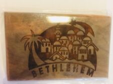 Olive Wood Magnet from Bethlehem, New
