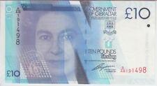 Gibraltar Banknote P36 10 Pounds 2010 Prefix A/AB QE II, UNC