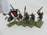 Warhammer Vampire Counts Mounted Black Knight converted barding painted army lot