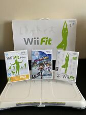 Nintendo Wii Fit Balance Board + 3 Games Boxed Tested And Working