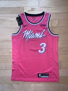 Dwayne Wade Miami Vice City Edition Mens Swingman Jersey Medium - Pink