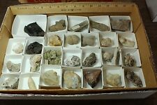 Minerals by the Flat - Wholesale Box of Rocks 077 Sand Calcite, Realgar, Quartz
