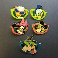 WDW Cast Lanyard Series - Sunglass Character Glasses 5 Pin Set Disney Pin 13543