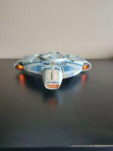 1997 Vintage Star Trek USS DEFIANT NX-74205 Playmates Toy. Tested WORKS.