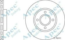 1x OE Quality Replacement Front Axle Apec Vented Brake Disc 4 Stud 278mm Single