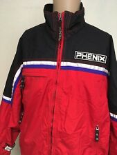 PHENIX INSULATED SKI JACKET ~ Red/Black ~ Stripe Detail ~ Medium ~ Ski ~ Phenix