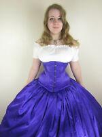 Custom Satin Long Line Underbust corset, steel boned, CUSTOM MADE TO YOUR SIZE