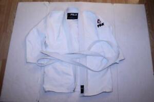 Men's Fuji Sz 2 Karate Top w/Belt (White) Fufi