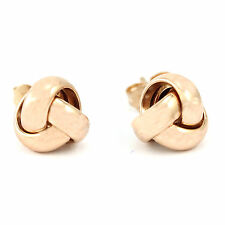 14k Rose Gold Knotted Stud Earrings(new, 1.8g, 17.5 x 8.9cm)#00001625