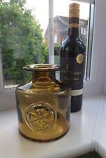 Dartington amber art glass bottle vase