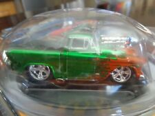 1955 CHEVY CAMEO PICKUP GREEN THE ORIGINAL MUSCLE MACHINES 1/64 SERIES 1 USED
