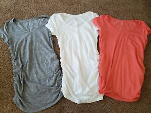 Short Sleeve Maternity Lot Size Medium,  Plain Solid Maternity Shirts Casual