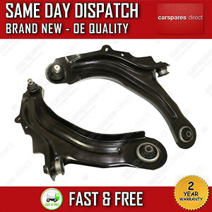 RENAULT MEGANE MK2 2002>ON FRONT LOWER SUSPENSION WISHBONE CONTROL ARMS PAIR X2