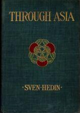 Sven Hedin / THROUGH ASIA Volume I 1899 First US edition