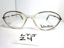 New SAN MARCO Eyeglass Frame Round Beige C872 Marble Womens (LTJ-24)