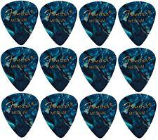 FENDER  Premium Celluloid Plectrums - Pack of 12 picks-  Turquoise - Medium.