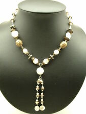Fresh Water Pearl & M.O.B   Necklace, .925, Sterling and Silver
