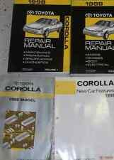 1998 Toyota Corolla Service Repair Shop Manual FACTORY SET W WIRING BOOK & FEATU