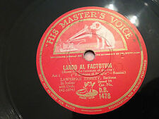 "LAWRENCE TIBBETT ""Largo Al Factotum""/""Eri Tu Che Macchiavi.."" 78rpm 12"" 1931 VG+"