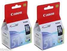 2 x Canon CL513 CL-513 COLORE Pixma MP480 MP490 MP492 Originale Cartucce di inchiostro