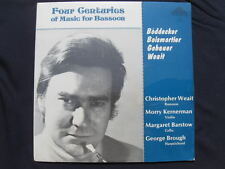 4 CENTURIES MUSIC FOR BASSOON CHRISTOPHER WEAIT SEALED