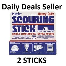 2X Pumie PUMICE Heavy Duty Scouring Stick/Bar for Household Cleaning Toilet Sink