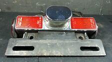 HONDA SHADOW VT 600 1999 OEM REAR LICENSE PLATE LIGHT & MOUNT BRACKET reflectors