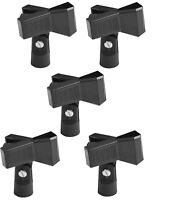 5x Universal Adjustable Microphone Accessory Mic Clip Holder Stand Black