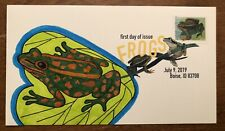 2019 Frogs FDC FDOI Hand Drawn Painted Cachet DCP