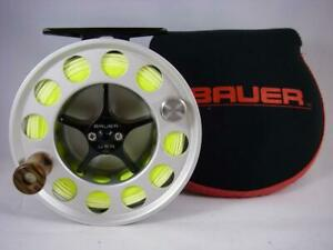 BAUER M3 FLY REEL; USA Made Large Arbor For 7 8 Line WT Rod