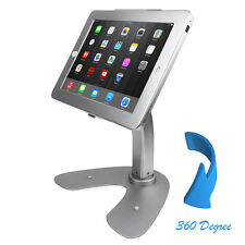 iPad Rotation Base Desktop POS Anti-theft Stand Enclosure Holder with Lock Kiosk