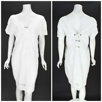 Womens Bottega by Elisa Cavaletti White Tunic Dress Summmer Beach Size XL