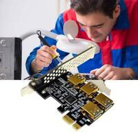 4 Ports PCIe Riser Adapterplatine PCI-E 1x bis 4 USB 3.0 PCI-E Rabbet GPU