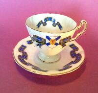 Royal Adderley Pedestal Teacup And Saucer - Tartan Series Nova Scotia - England