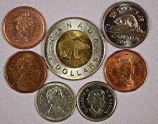 Canada 7 Coins (includes 2 Dollar) Inv. X1
