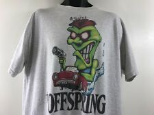 VTG 90s THE OFFSPRING TOUR GRAY T SHIRT SIGNED BY NOODLES SIZE XL HIPSTER ROCK
