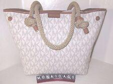 Michael Kors Maritime Vanilla Signature Medium Beach Converts Tote Bag NWT $348
