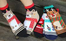 New Women Winter Socks Gift Warm Soft Cotton Sock Santa Claus Deer Xmas Gifts