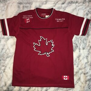 CANADA ATHLETICS shirt jersey ; adult Medium ; red