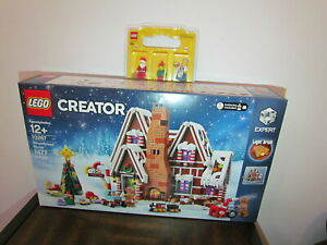 Lot LEGO 10267 Winter Village Gingerbread House Mini Figures Santa Elf Mrs.Claus
