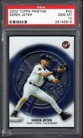 2002 Topps Pristine #20 DEREK JETER HOF New York Yankees PSA 10 GEM MINT POP 15