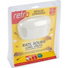 RETRO - Répulsif ultrasons rats souris loirs lérots araignées- 280 m²