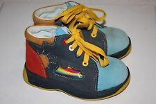 Dawid Nova Sol Multi-Color Sun Design Toddler Boots, Euro Size 22, Mint