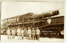 WWI French Obusier de 520 modele 1916 Howitzer gun, real photo postcard RPPC