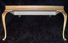 """VINTAGE 1970's GOLD Wall Mount 14"""" Tall ACCENT TABLE Foyer Bath Home Decor 22.5"""