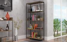 Estanteria libreria diseño para salón u oficina de estilo industrial  180x93x30