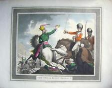 Gravures Napoléoniennes cavalerie Sabre Perceuses Rowlandson Couper deux & droite protéger 1799