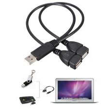 USB 2.0 A Male To 2 Dual Female Jack Y Splitter Hub Power Cord Adapter Cable