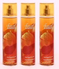 3 Bath & Body Works SENSUAL AMBER Fragrance Mist Spray